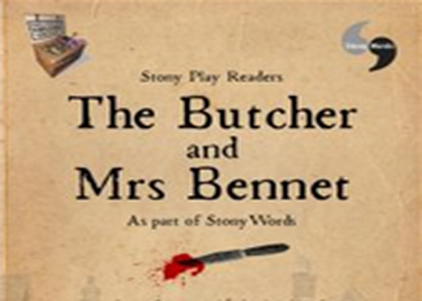 Image of part of a programme for The Butcher and Mrs Bennett play performed by Stony Play Readers.