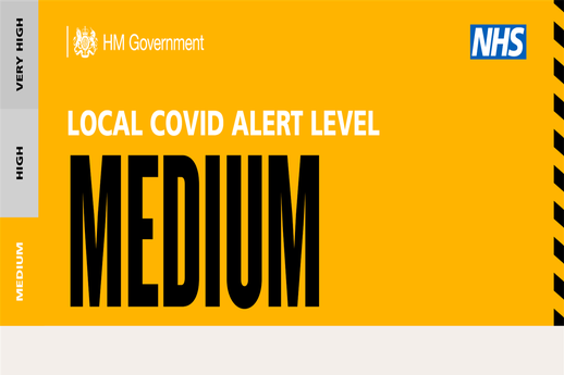 Local COVID-19 Alert Level - Medium